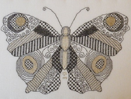 Blackwork Butterfly Kit by Sally Leonard - Click Image to Close