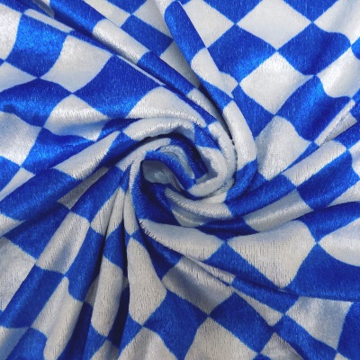 Velour Printed Carnival 0093 Blue/White - Click Image to Close
