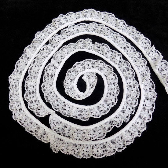 20mm Gathered Lace Trim
