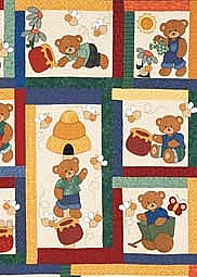 Honey Bears Single Bed Quilt Pattern by Kids Quilts QLT000