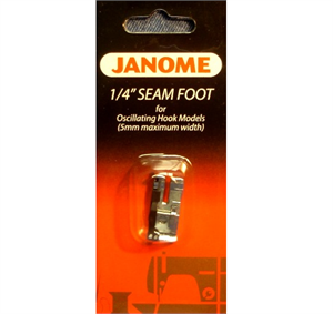 "Janome 1/4"" Seam Foot Oscillating Hook Models"