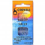 Pony Gold Eye Sewing Needles: Crewels Size 3-9 (P04861) - Click Image to Close