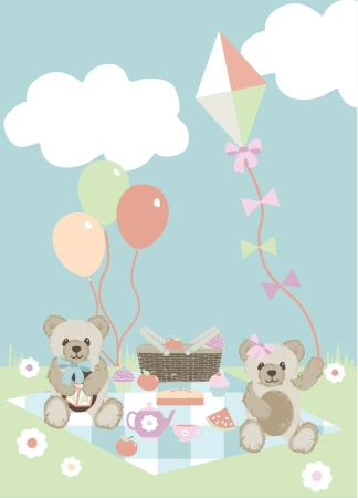 Teddy Bears Picnic FF150/1 Panel from Fabric Freedom - Click Image to Close