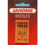 Janome Red Tipped Scarf Needles Size 14 Part No. 990314000