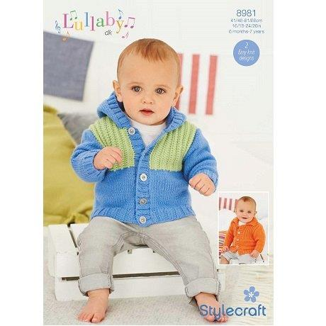 Stylecraft Lullaby DK - Jacket 8981 - Click Image to Close