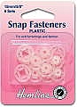 Sew On Snap Fasteners 15mm: Round (Plastic) (Hemline H424)